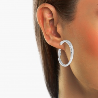 TONIQ Sterling Textured Hoops