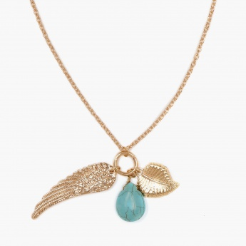 TONIQ Angel Wing And Turq Bead Neckpiece