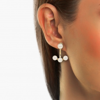 TONIQ Stunning Pearl Ear Jacket