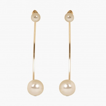 TONIQ Crescent Moon Pearl Ear Jacket