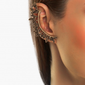 TONIQ Pink Crystal Ear Cuffs