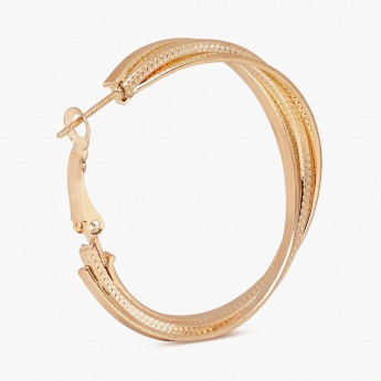 TONIQ  Triple Twist Gold Glam Hoops