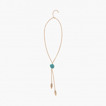 TONIQ Turq Stunner Y-Chain Necklace