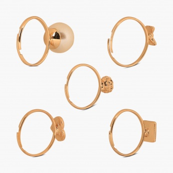 TONIQ Tiny Lolus Ring Set