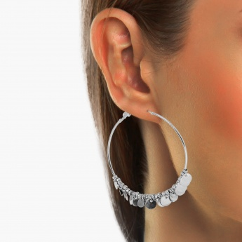 GINGER Silver-Toned Coin Earrings