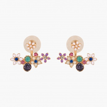 GINGER Flowery Cluster Earrings