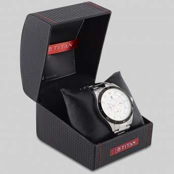 TITAN 1623KM02J Stainless Multifunctional Watch
