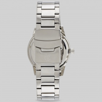 TITAN 1621SM01J Round Silver Multifunctional Watch