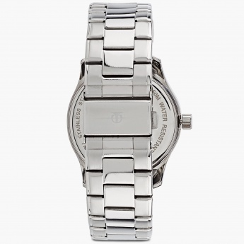 TITAN 1632SM02 Round Silver Multifunction Watch