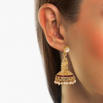 FIDA Peacock Jhumki Earrings