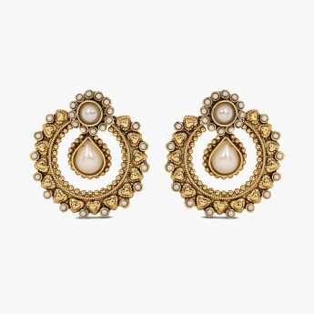 FIDA Pearl Chandbali Earrings