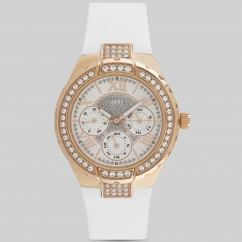 GUESS W0300L2 Women Multifunction Crystal Studded Watch