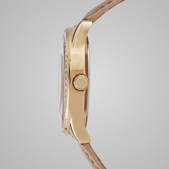 GUESS W0161L1 Women Crystal Studded Analog Watch
