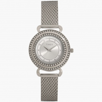 TIMEX T2P231 Women Crystal Studded Analog Watch