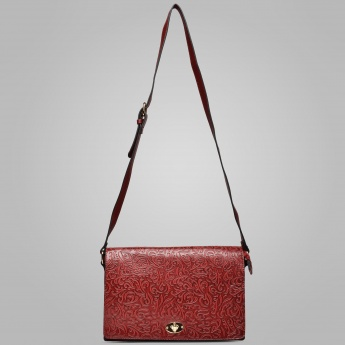 PAPRIKA Embossed Sling Bag