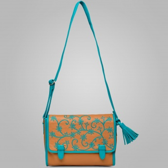 GINGER Embroidered Messenger Bag