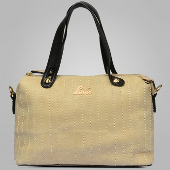 LAVIE Stitch-Styled Structured Handbag