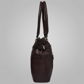 Bulchee Textured Multiple Zip Handbag