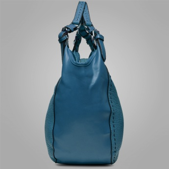 CODE Decorative Stitching Hobo Shoulder Bag