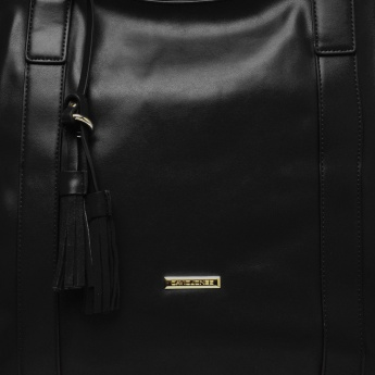 DAVID JONES Detachable Handle Fringe Shoulder Bag