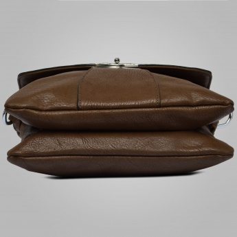 DAVID JONES Textured Fold-Over Sling Bag