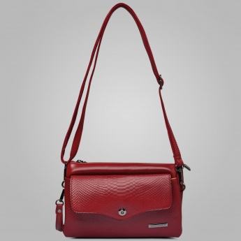 DAVID JONES Textured Cherry Sling Bag
