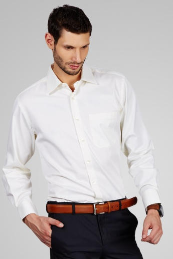 LOUIS PHILIPPE Solid Full Sleeves Regular Fit Shirt