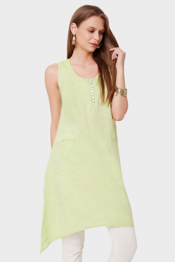 BIBA Sleeveless Front Pocket Kurti