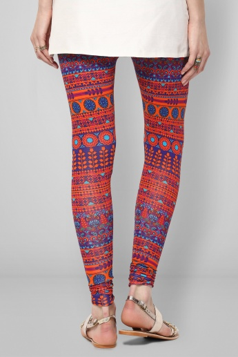 MELANGE Ethnic Warmth Printed Leggings