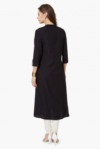 MELANGE Solid Long Kurta
