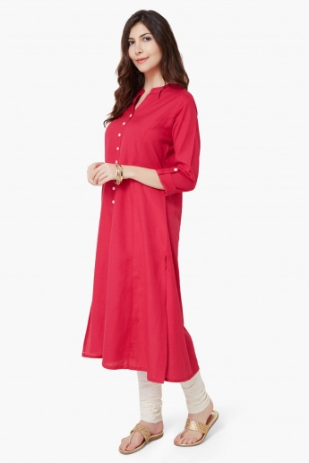 MELANGE Button Down Rich Kurta