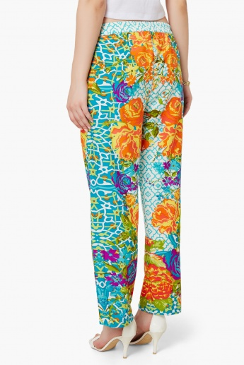 MELANGE Colour Pop Printed Pants