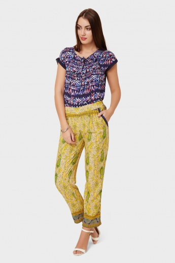 MELANGE Printed Pocketed Pants