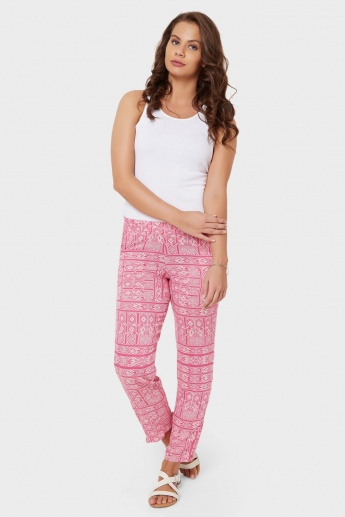 MELANGE Printed Pockted Pants