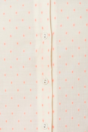 MELANGE Roll-Up Sleeves Button Placket Kurta