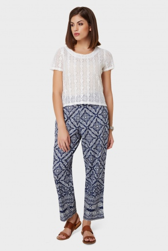 MELANGE Printed Straight Pants