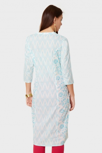 MELANGE Printed Tie-Up Detail Kurta