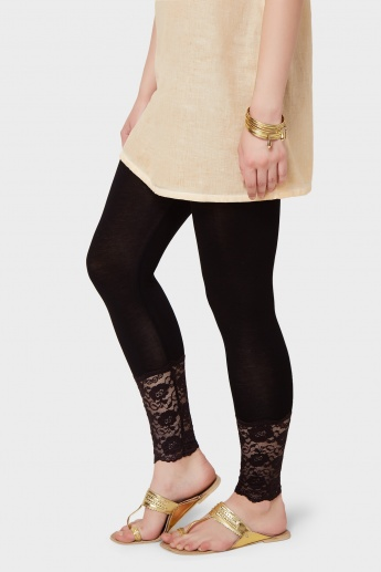 MELANGE Lacy Ankle Leggings