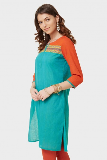 MELANGE Round Notch Neck Kurta