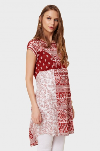 MELANGE Printed High-Low Hem Kurti