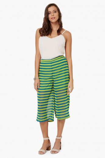 COLOUR ME Striped Culottes