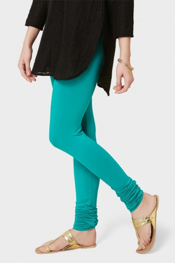 MELANGE Solid Churidar Leggings