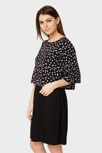 AND Flower Print Dress