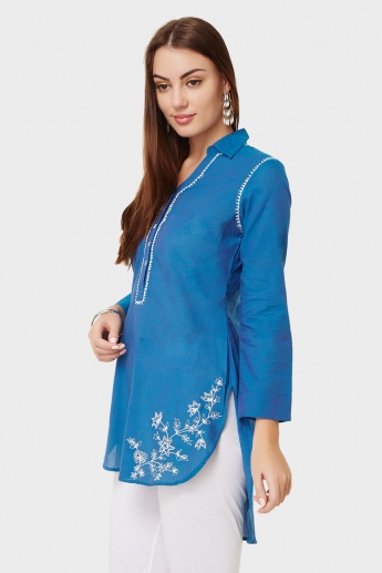 BIBA Embroidered Short Kurti
