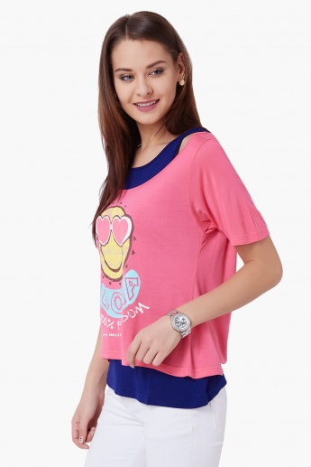 SMILEY Aloha Imprint Top