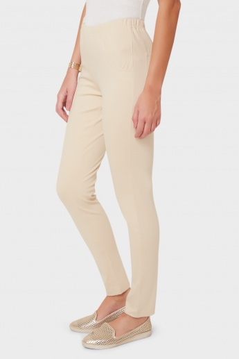 AND Solid Elasticated Waist Pants