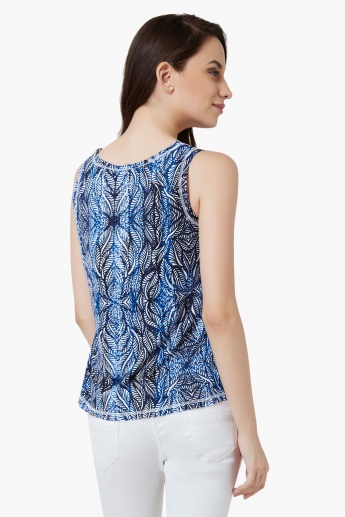 AND Printed Sleeveless Top