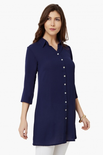 AND Solid Collared Tunic