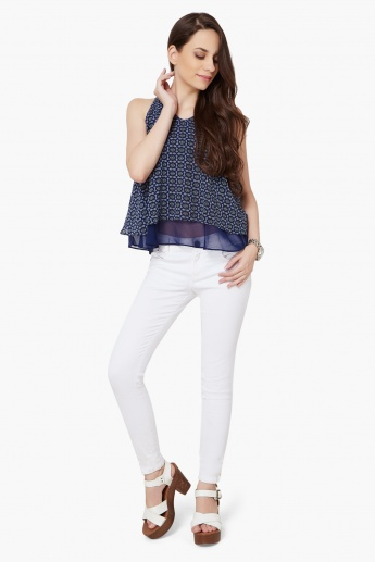 AND Sleeveless Layered Blouse