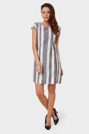 AND Striped Shift Dress